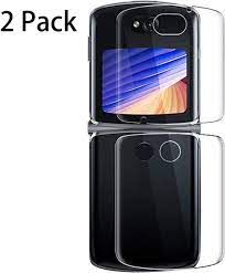 Amazon.com: Compatible with Moto Razr 5G Screen Protector,2 Pack Front+2  Pack Back Full Covered Clear Anti-Scratch Screen Protector Film For Motorola  Moto Razr 5G 2020 Protection Transparent Skin