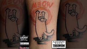 Tatuaggio Stilizzato Il Gatto Curioso Alessandro Raggi