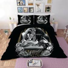 skull bedding king size load image into gallery viewer skull bedding set girl duvet cover pillow
