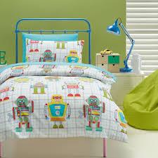 kids house robot quilt cover set