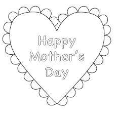 unparalleled mother s day hearts coloring pages for kids