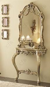 gold console table. Camel Leonardo Italian Barocco Mecca Gold Console Table With Mirror