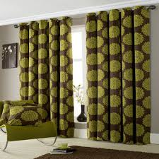 lime green ring top lined curtains 90 x 90