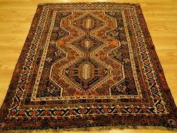 1920s persian qashqai khamse federation geometric brown rustic