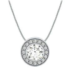 choose a 100ct center set halo gallery diamond necklace pendant setting in 14k white gold 410 jpg