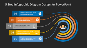 Graphic Diagram Design 5 Step Infographic Design Diagram For Powerpoint