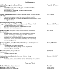 Resume Student Volunteer Therpgmovie