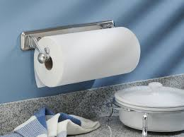 Amazon.com: InterDesign York Lyra Wall Mounted Paper Towel Holder  Split  Finish: Home & Kitchen