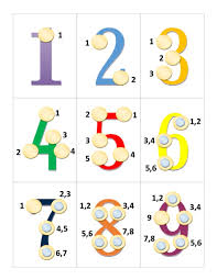 Math Touch Points Chart Touch Point Math Printable Handout