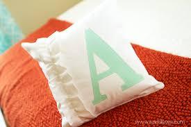 decorative pillow ideas. painted monogram pillow decorative ideas