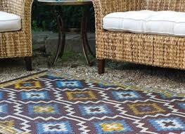 fab hab lhasa outdoor rug in blue brown fab hab