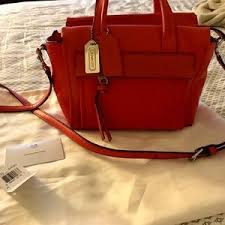 Coach Bags - 🆑 Coach Bleecker Mini Riley Carryall in Love Red