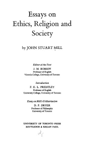 the collected works of john stuart mill volume x essays on  title page 0223 10 toc