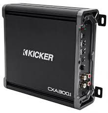 Kicker Cxa300 1 Red Light Kicker 43cxa3001 Cxa300 1 300 Watt Rms Mono Class D Car