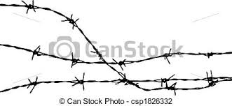 barbed wire fence drawing. Barbed Wire Clipart Silhouette #9 Fence Drawing