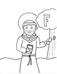 Luxury St Francis Of Assisi Coloring Page Myobfit Com And Coloringpw