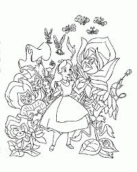 Small Picture Alice And Wonderland Movie Coloring PagesAndPrintable Coloring