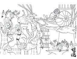 Coloring Pages Mermaids Running Downcom