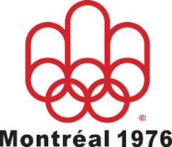 1976 Montreal Olympics Logo - The olympic rings in red with a red 'M ...
