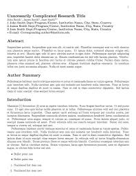 journal paper template scientific journal paper template