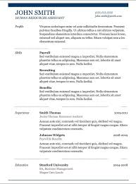 resume copy paste template