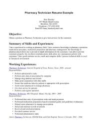 Resume Examples Templates Pharmacy Technician Resume Examples Cool
