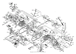 dixon ztr 5421 1995 parts diagram for wiring assembly drive pulley hydrostats gearbox assembly