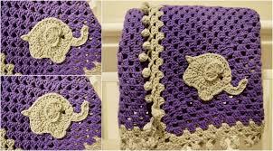 Crochet Elephant Blanket Pattern