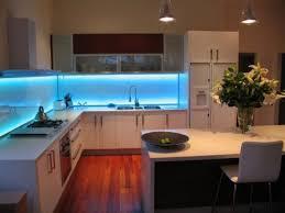 kitchen led lighting strips. Bring Some Color With This LED Kitchen Lighting Concept Using Strips Or Under Cabinet Lights Led E