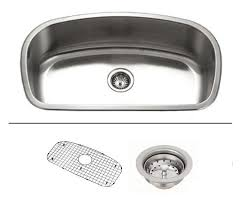 32 inch stainless steel undermount single bowl kitchen sink with accessories