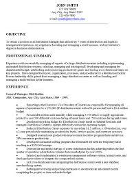 objective sample for cv