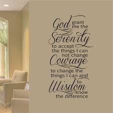 Serenity Prayer Decal Vinyl Wall Lettering Religious Wall Quotes