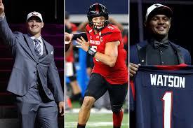 Three stunning quarterback trades in first round of NFL Draft.