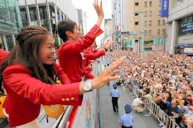 Image result for 2012年 - 銀座でロンドンオリンピック日本選手団メダリスト凱旋パレード