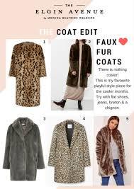 faux fur coat edit the elgin avenue blog
