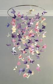 purple baby mobiles erfly chandelier mobile in purple and pink mostly solid erflies girl room girl purple baby mobiles