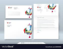 Envelope Dl C5 Letterhead Corporate Business Vector Image