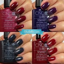Cnd Shellac Swatches Winter Colors In 2019 Shellac Nail