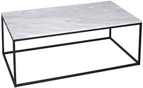 westminster white marble coffee table rectangular with black base