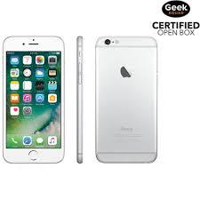 iphone 6 silver box. apple iphone 6 16gb smartphone - silver carrier sim locked open box iphone