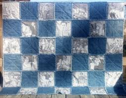 318 best Rag Quilts,Quilts,Ideas,and Patterns images on Pinterest ... & Photo Memory Rag Quilt/ Lap Throw/ Wall Hanging - Custom Made Rag Quilt in Adamdwight.com