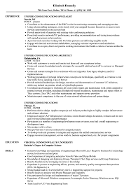 Communications Resume Sample Unified Communications Resume Samples Velvet Jobs 16