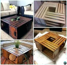 wooden crate end table unique coffee instructions how to make a fruit crates free wood dog