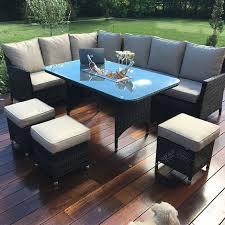 maze rattan garden furniture venice outdoor corner sofa ice bucket dining set various colours