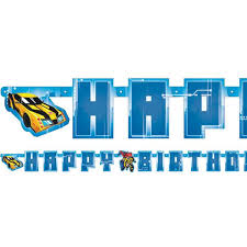 Transformers Party Letter Happy Birthday Banner 1 8m Each