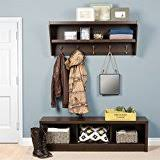 Coat Rack And Shoe Storage Amazon Entryway Wall Mount Coat Rack W Shoe Storage Bench In 29