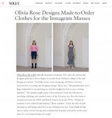 Press   Olivia Rose The Label