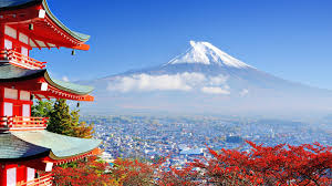 Japan Mount Fuji Building Nature Asian Architecture