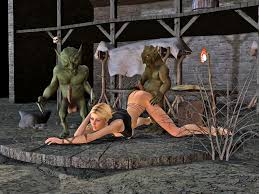 Orc brutes fucking cute human and elf babes World of porncraft 3d