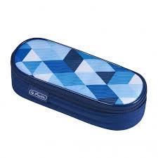 <b>Herlitz Пенал</b>-<b>косметичка</b> Case Blue Cubes - Акушерство.Ru